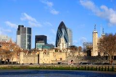 Het panorama van de Stad van Londen Stock Afbeelding