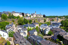 Het Panorama van de Stad van Luxemburg Royalty-vrije Stock Foto's