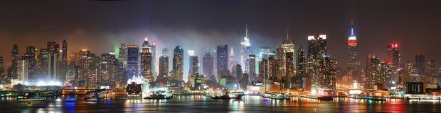 Het panorama van de Stad van Manhattan New York Stock Afbeeldingen