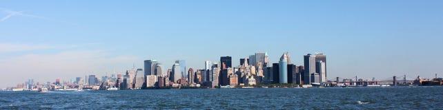 Het Panorama van de Stad van New York stock foto