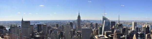 Het Panorama van de Stad van New York Stock Fotografie