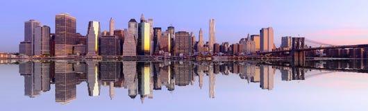 Het Panorama van de Stad van New York Royalty-vrije Stock Afbeeldingen