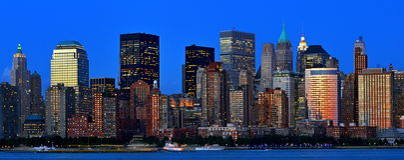 Het Panorama van de Stad van New York Stock Afbeelding