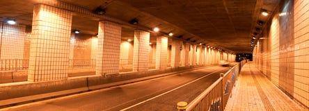 Het Panorama van de Tunnel van de nacht Royalty-vrije Stock Afbeeldingen