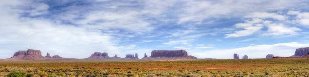 Het Panorama van de Vallei van het monument Stock Foto