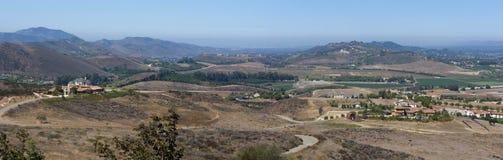 Het Panorama van de Vallei van Simi Stock Afbeeldingen