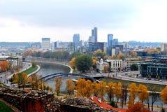 Het panorama van de Vilniusherfst van Gediminas-kasteel Royalty-vrije Stock Afbeelding