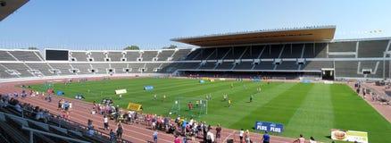 Het panorama van de voetbaltoernooien van Helsinki Stock Foto's