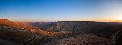 Het panorama van de wadi mujib Stock Fotografie