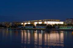 Het panorama van de Washington DCnacht van thewaterfront langs Potomac Rivier Stock Foto's