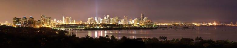 Het Panorama van de Waterkant van Miami Stock Foto's