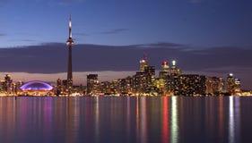Het panorama van de Waterkant van Toronto stock foto