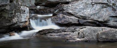 Het Panorama van de waterval stock foto