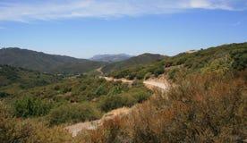 Het Panorama van de Weg van de Canion van Latigo Stock Foto