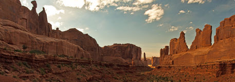 Het panorama van de Weg van het park Royalty-vrije Stock Afbeelding