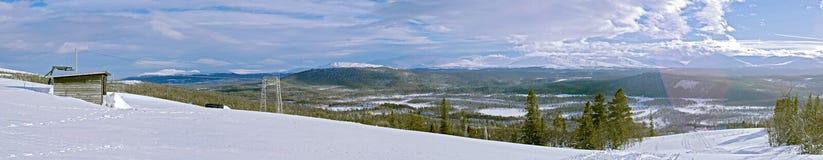Het panorama van de winter Stock Fotografie