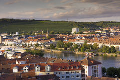 Het Panorama van de Wuerzburgstad Royalty-vrije Stock Foto