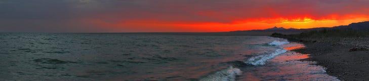 Het panorama van de zeekust stock foto's