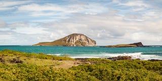 Het Panorama van het de Zeevogelheiligdom van de Staat van het Kaohikaipueiland royalty-vrije stock fotografie