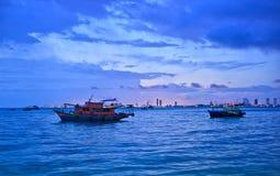 Het panorama van de zomer van Pattaya in Thailand Stock Fotografie