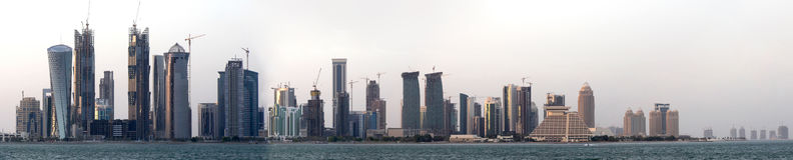 Het panorama van Doha Royalty-vrije Stock Afbeeldingen