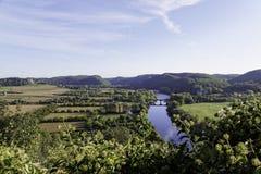 Het Panorama van Dordogne stock afbeelding