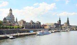 Het panorama van Dresden Stock Afbeelding