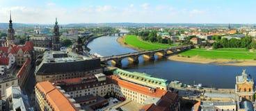 Het panorama van Dresden Stock Foto