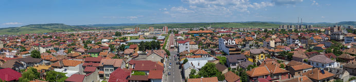 Het panorama van Drobetaturnu Severin van hierboven Royalty-vrije Stock Foto