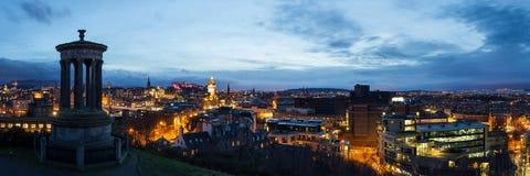 Het panorama van Edinburgh Stock Fotografie