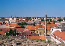 Het panorama van Eger Stock Afbeeldingen