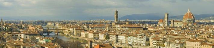 Het panorama van Florence stock afbeeldingen