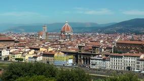 Het panorama van Florence stock videobeelden
