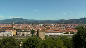 Het panorama van Florence stock video