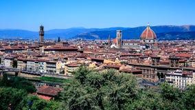 Het panorama van Florence stock foto