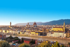 Het panorama van Florence, Toscanië, Italië stock foto