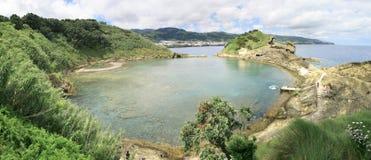 Het Panorama van Franca de Azoren van Vila Royalty-vrije Stock Foto's