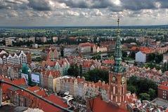 Het panorama van Gdansk Stock Foto