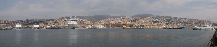 Het panorama van Genua royalty-vrije stock afbeelding