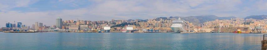 Het panorama van Genua stock afbeelding