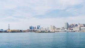 Het panorama van Genua van het overzees royalty-vrije stock afbeelding
