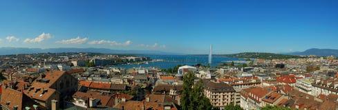 Het Panorama van Genève Royalty-vrije Stock Afbeelding