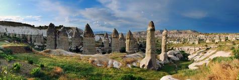 Het panorama van Goreme in Turkije Stock Foto's