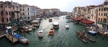 Het Panorama van Grand Canal Venetië Stock Foto's
