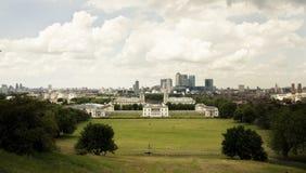 Het panorama van Greenwich Royalty-vrije Stock Foto