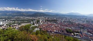 Het panorama van Grenoble Royalty-vrije Stock Afbeeldingen