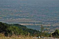 Het panorama van Griekenland in Olà ¼ mposz royalty-vrije stock fotografie