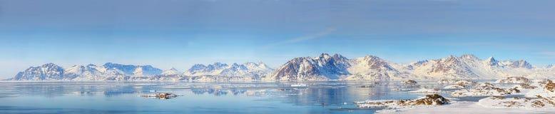 Het panorama van Groenland stock afbeeldingen
