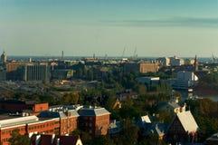 Het panorama van Helsinki stock afbeelding