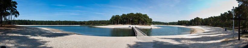 Het panorama van Henschotermeer stock foto's